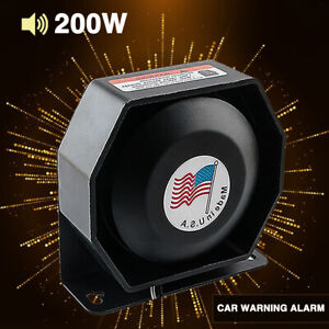 Universal 200W Compact Loud Speaker PA System Horn Emergency Warning Alarm