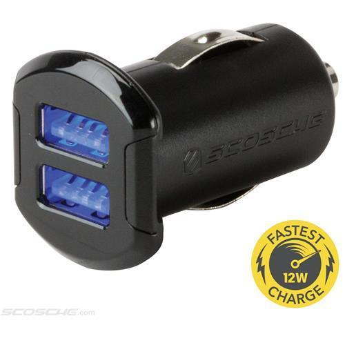 Scosche USBC242M Dual USB 12 Watts Car Charger for iPod iPhone