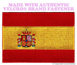 SPAIN FLAG PATCH SPANISH ESPAÑA EMBROIDERED PARCHE new w// VELCRO® Brand Fastener