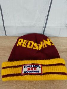 Super Bowl XXII Washington Beanie Winter Hat Cap VG Condition Free Shipping