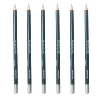Italia Eyeliner Pencil Silver Color 6pcs Creamy Vivid Color 7 W/ Sharpener
