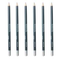 Italia Eyeliner Pencil Silver Color 6pcs Creamy Vivid Color 7 W/ Sharpener