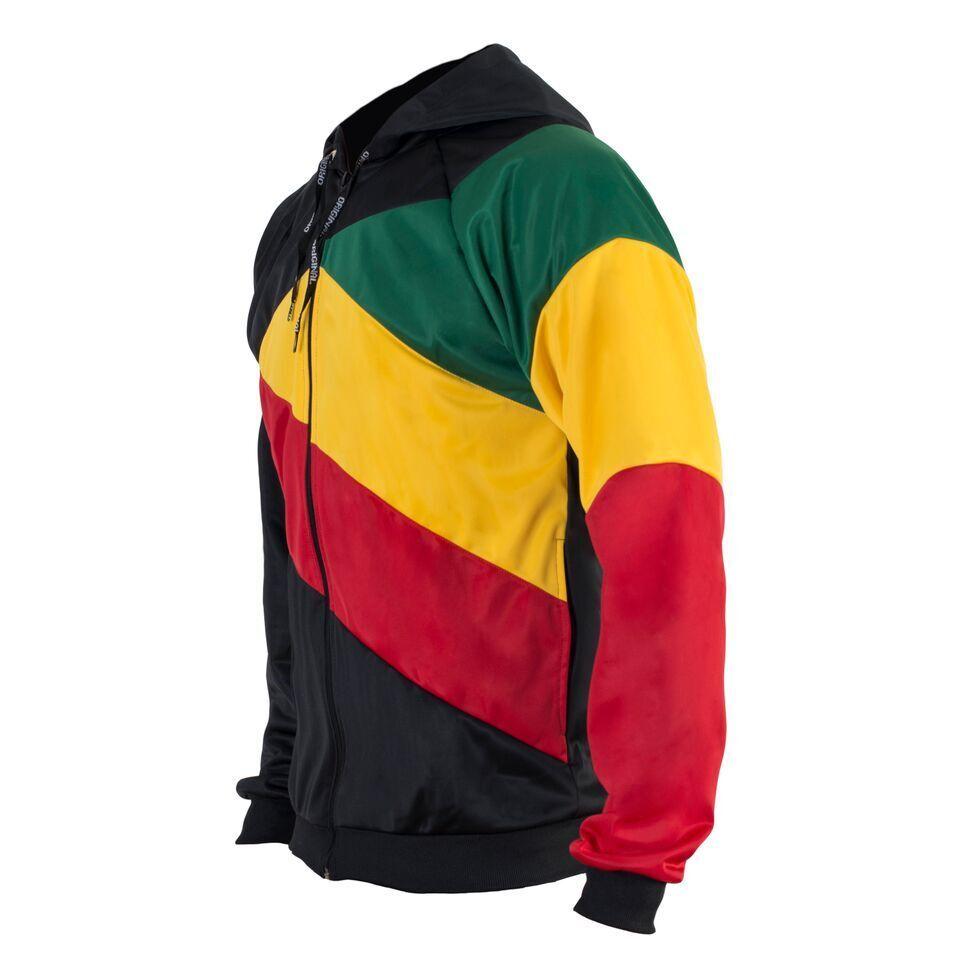 Rasta Reggae Reggae Reggae Giacca Cjamaica Colorei Felpa con Cappuccio Africa con Zip Maglione a8d581
