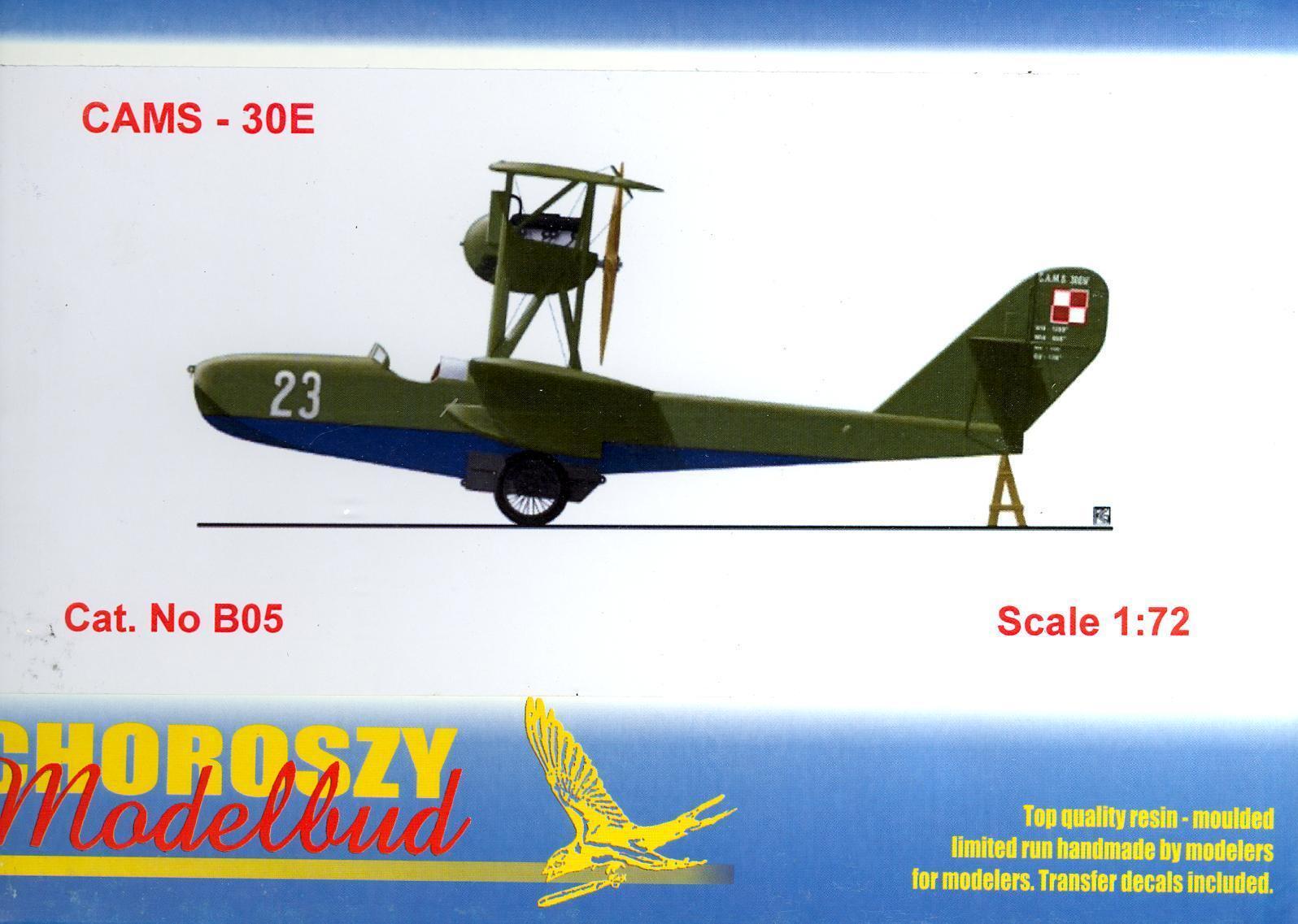 Chgoldszy Models 1 72 CAMS 30E French Seaplane