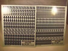 DECALS 1/24 NUMEROS PORTES RALLYE NOIRS - COLORADO  2423