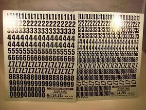 DECALS 1//32 NUMEROS NOIRS ET BLANCS PART 2 COLORADO  32009