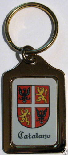 Catalano Italian Coat of Arms Solid Brass Key Chain