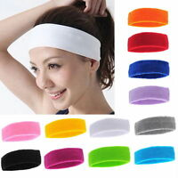 Unisex Sports Sweat sweatband Headband Yoga Gym Stretch Head Hair Band Accessory