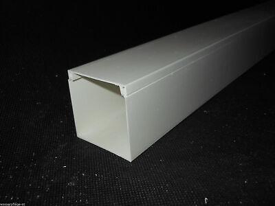 KABELKANAL SCOS L x B x T 2000x40x16 mm PVC Profi Kabelleiste Weiß Schraubbar