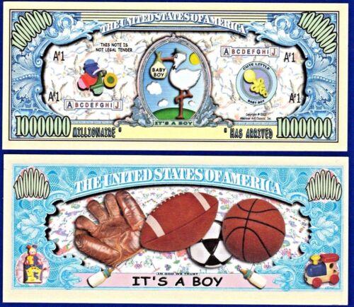 "It/'s a Boy /"" Dollar BillS 5 FAKE MONEY-W Collectible Baby-Novelty"
