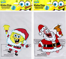Christmas Window Gel Clings ft. Sponge Bob SquarePants & Patrick Star