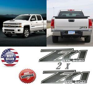 CARBON FIBER  CHEVY Z71 4x4 OFF ROAD DECAL,Truck Z71 silverado chevrolet