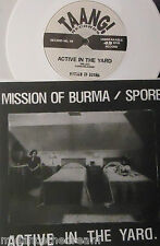 """MISSION OF BURMA / SPORE Active In The Yard ~ 7"""" Single PS WHITE VINYL + INSERT"""