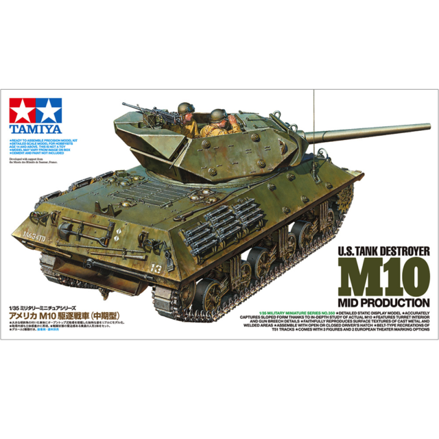 Tamiya 35350 U.S. Tank Destroyer M10 Mid Production 1/35