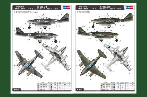 Details about  /HobbyBoss 80375 1//48 Messerschmitt Me 262 A-1b