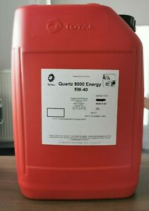 5W-40-Total-Quartz-9000-Energy-20-Liter-Motoroel-Porsche-VW-MB