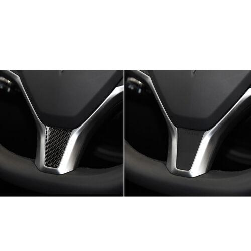 Car Black Carbon Fiber Steering Wheel Lower Trim For Tesla Model S X 2012-2018