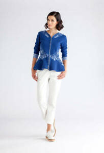 Ivko-Knitwear-Giacca-di-Maglia-Peplum-Blu-Ricamato-Giacca-81512