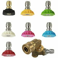 Power Pressure Washer Spray Nozzle Tipsquick Connect Pivot Adapter Accessories