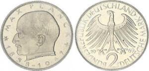 2 DM Kursmünze Max Planck 1968 J prfr st. 61881