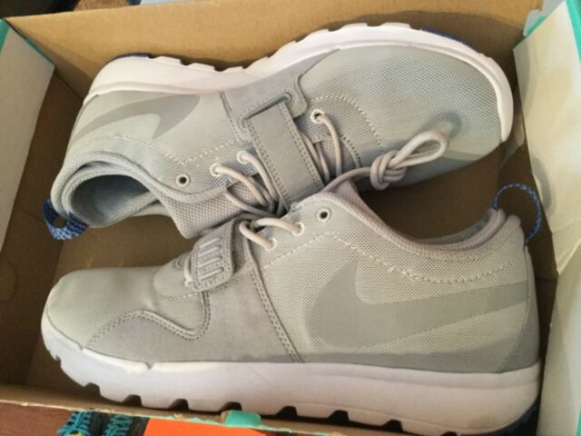 huge sale 35e8f 7c983 New Nike Mens SB Trainerendor Skateboard Shoes 616575-041 Sz 9.5 Platinum