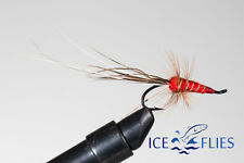 ICE FLIES Salmon Fly Dimma gold treble Hook. 3-pack Pick a size