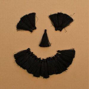 MéThodique 24x Noir Pompons (5 Cm Long)-afficher Le Titre D'origine Quell Summer Soif