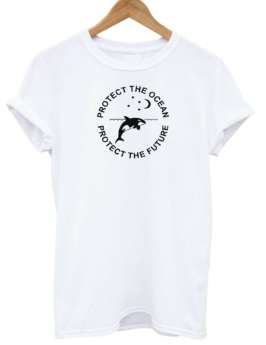 Protect The Ocean T-shirt Whales Vegan Plastic Sea T SHIRT ADULT KIDS SM XXXL