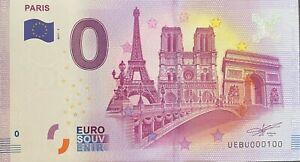 BILLET-0-EURO-PARIS-3-MONUMENTS-NOTRE-DAME-AU-CENTRE-FRANCE-2017-NUMERO-100