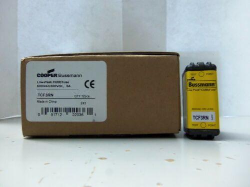 Details about  /New Bussmann TCF3RN Low-Peak CUBEFuse 3 Amp Cube Fuse 600Vac 300Vdc