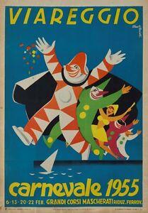Poster-Italien-size-A3-cm-31x42-Italy-VIAREGGIO-carnival