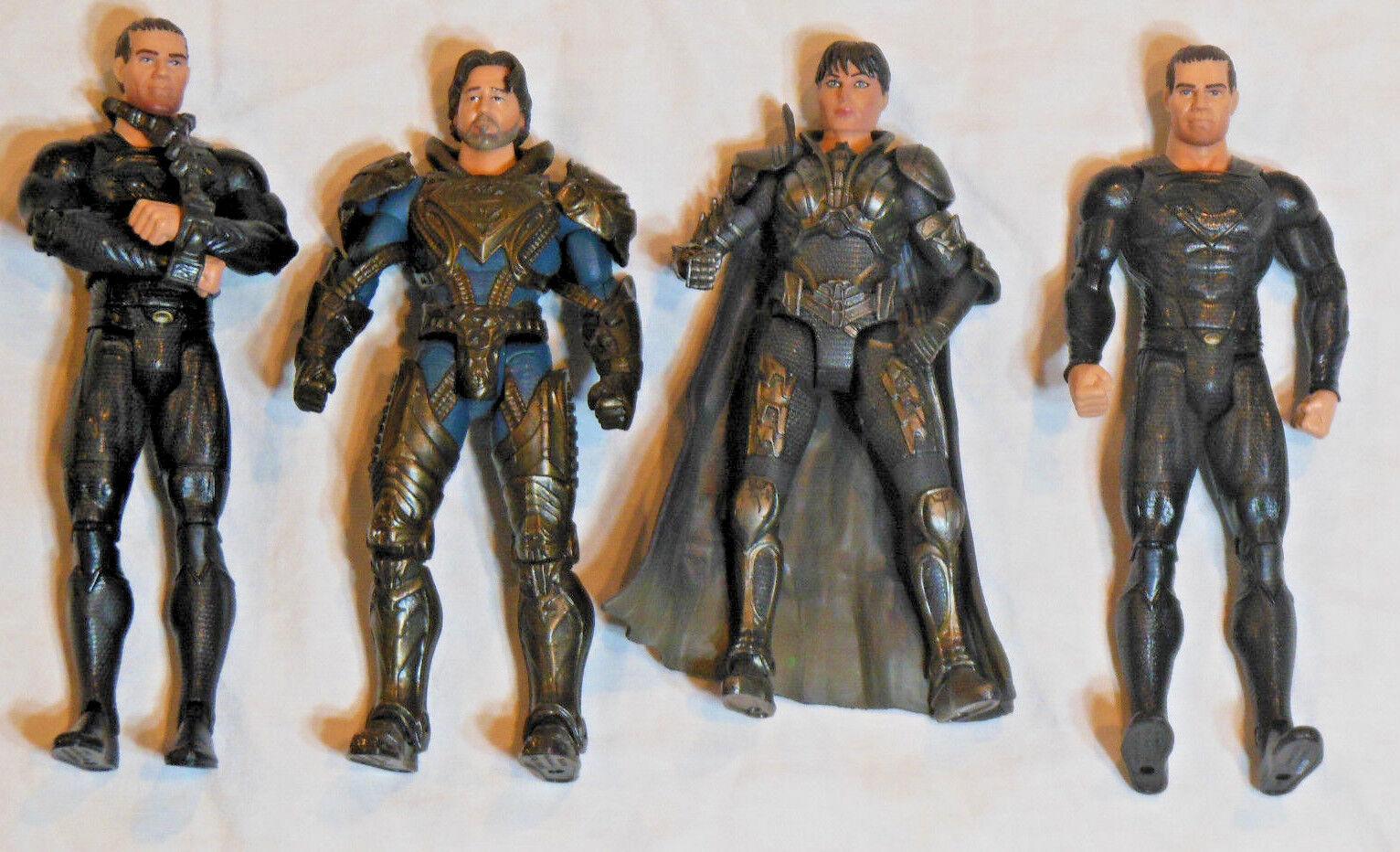 El Hombre de Acero  Lote De Figuras De Acción  Multiverse Dc Comics-Zod Faora película Master
