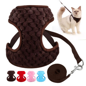 Pet-Cat-Walking-Jacket-Harness-and-Leash-Set-Soft-Plush-Harness-Vest-for-Puppy