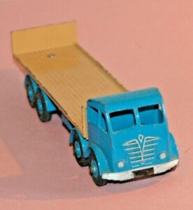 DINKY-Meccano-England-1957-rare-FODEN-TAILBOARD-light-blue-fawn-riveted-903