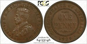 Australia-1929-Indian-Obverse-Penny-PCGS-AU50-lot-0339