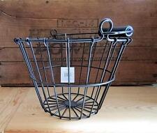 Black Wire EGG BASKET ~ Rustic Primitive Farmhouse Wire Basket