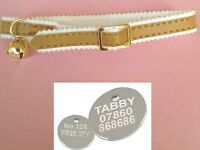 Ancol Cat Collar in Gold (Kitten Soft) + FREE ENGRAVED PET ID TAG (20mm Tags)