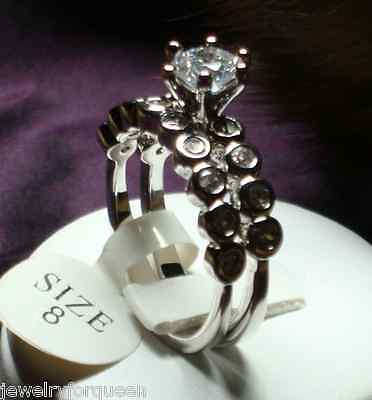 2pcs 1.51 ctw CZ Cubic Zirconia 18k W/ Gold Plated Engagement Wedding Ring set
