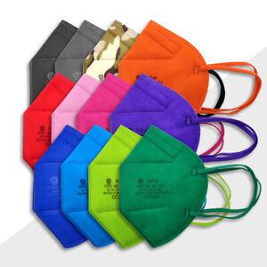 ✅ 10x FFP2 Maske Bunt Farbig Atem Mund Schutz zertifiziert ✅TÜV CE 2163 🇩🇪DE