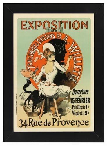 AP28 Vintage French Art Exhibition A Willette Advertisement Framed Poster A3//A4