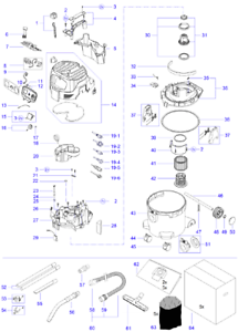 NEU Original Makita VC3012M VACUUM CLEANER Repair Spare Parts Replacement