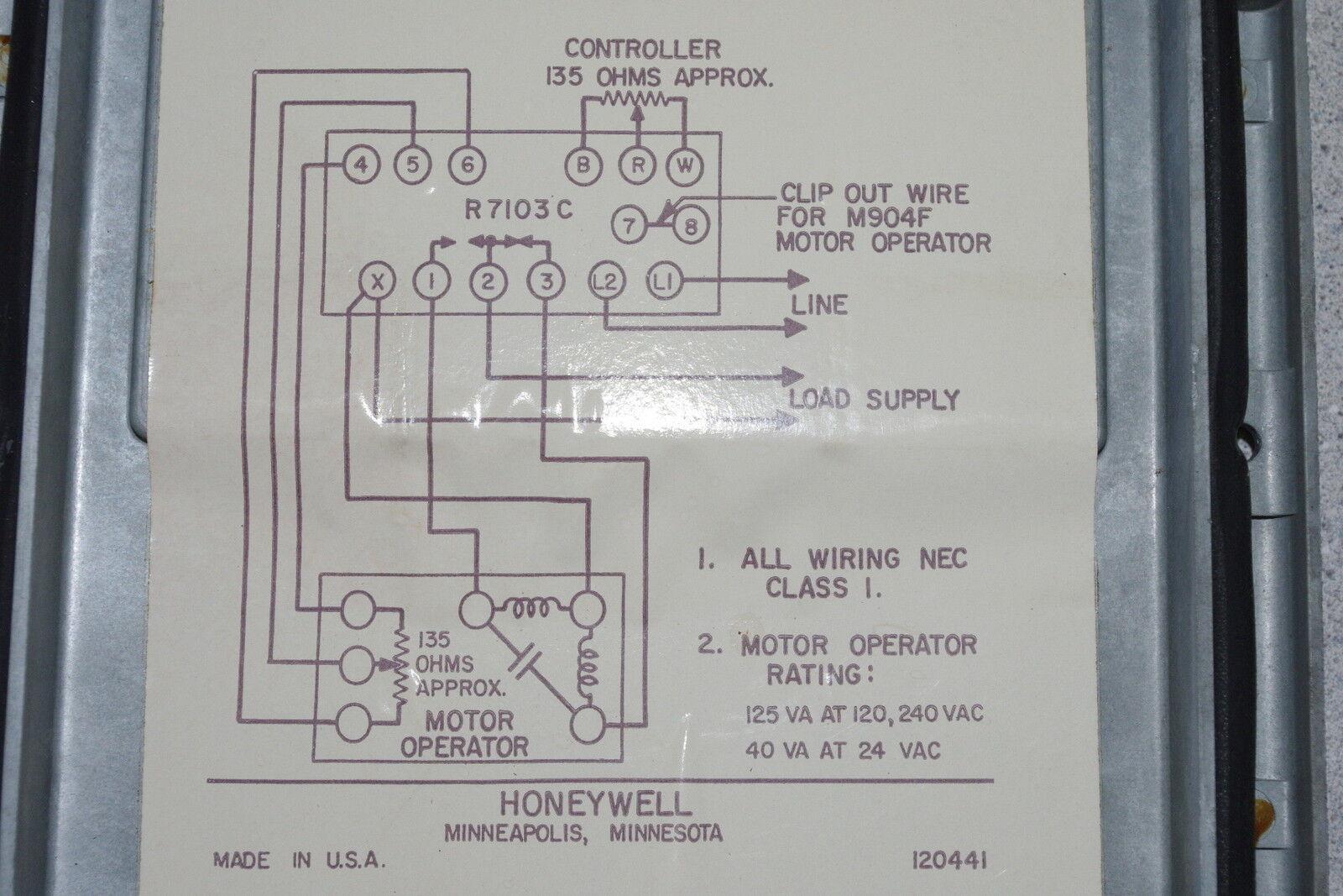 Honeywell 120441 Vintage Controller Ebay 120 240 Motor Wiring Diagram Norton Secured Powered By Verisign
