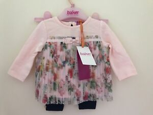 e34c9816b Ted Baker - Baby girls  light pink top and quilted leggings set 0-3 ...