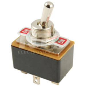 NTE Electronics 54-718 SWITCH TOGGLE DPDT 3A 125VAC 6A 12VDC ON-ON INDICATOR