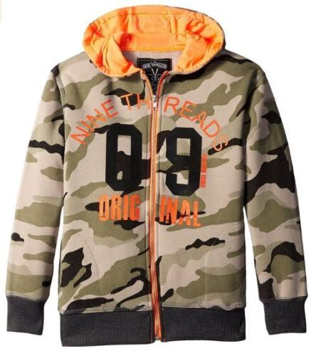 NEW Camo 14//16 Nine Threads Med Lg Kids Hooded Jacket Coat Junior Youth Childs