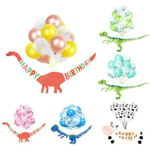 Dinosaur-Banner-with-15Pcs-Balloons-Set-Kids-Happy-Birthday-Party-DIY-Decoration
