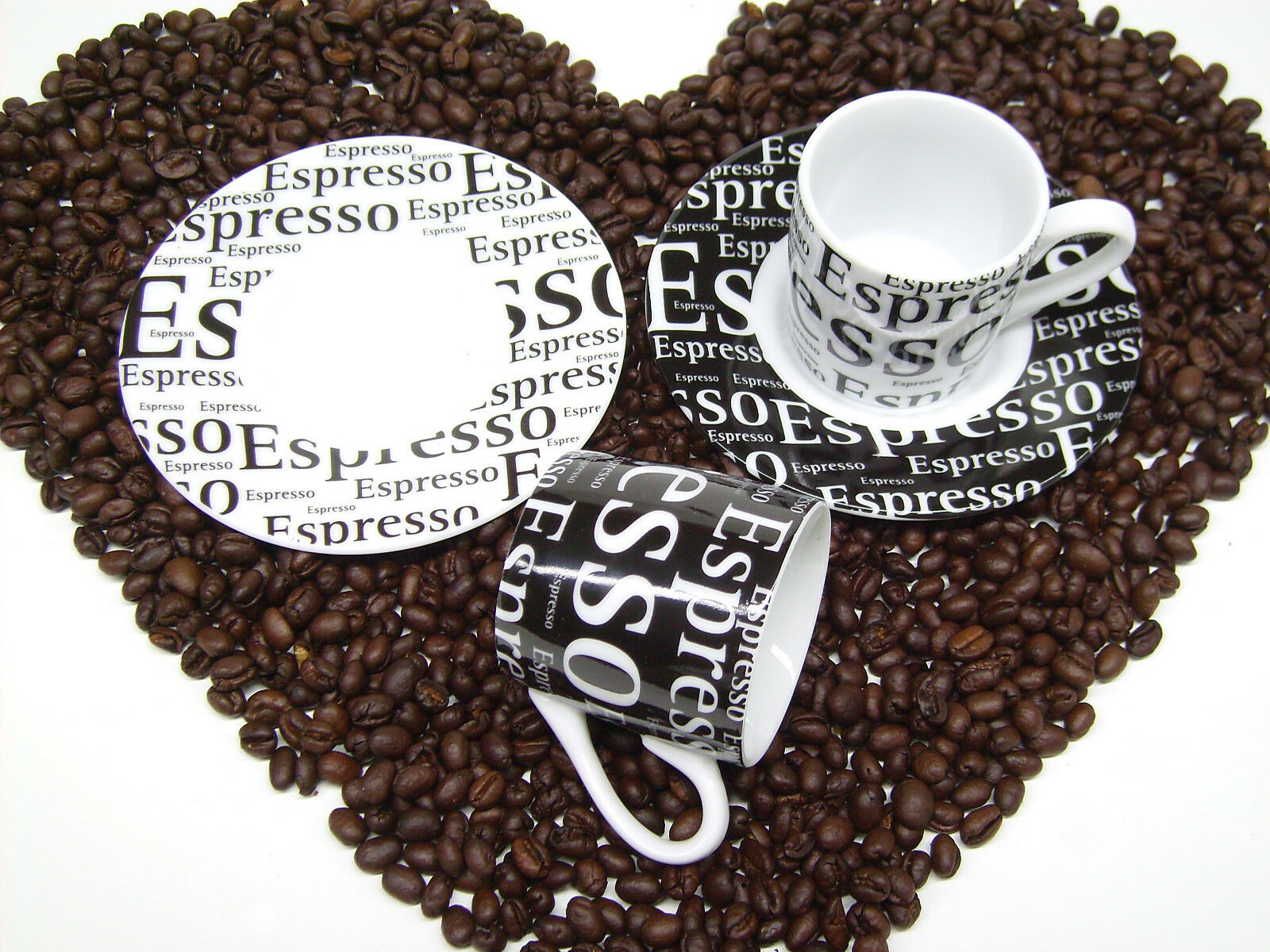 Espresso Cup Set Optional as Set of Two 4 Pieces or as 12 Piece Set of 6
