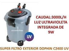 SUPER FILTRO EXTERIOR DOPHIN c2400 UV 3000l/h acuario ULTRAVIOLETA bomba 50w