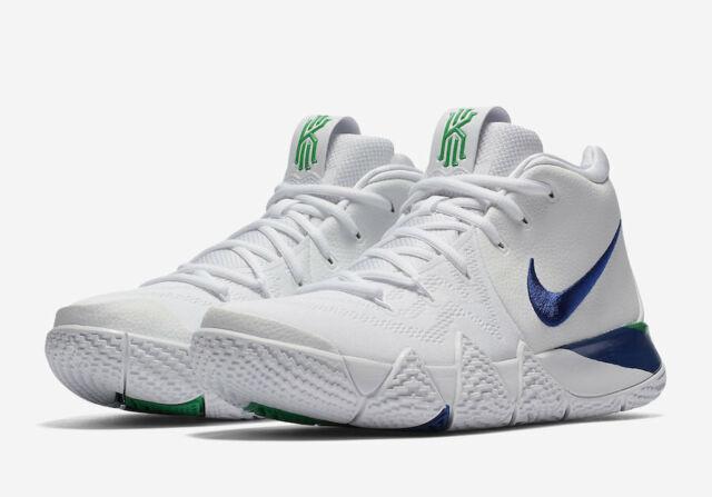 Nike Kyrie 4 White Deep Royal Blue Shoe