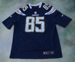 huge selection of 9bca7 405ab Details about Nike NFL San Diego Chargers Antonio Gates #85 Jersey Size L.